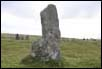 largest stone in the circle at Scorhill on Dartmoor